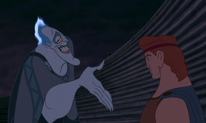 Hades making a deal with Hercules