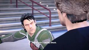 Leon obraża i wyzywa Chucka