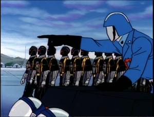 Cobra Commander ordering the Cobra B.A.T.s