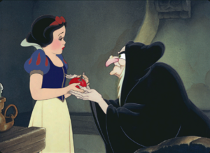 Evil Queen tricking Snow White
