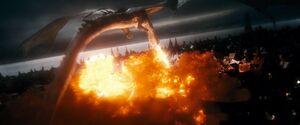 Smaug burning Lake town