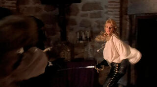 Justine de Winter (played by Kim Cattrall) The Return of the Musketeers 1972