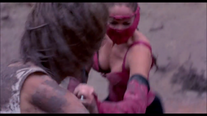 Mileena struggles to get her sai out Annihilation