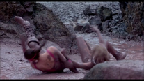 Both women struggle to get up Annihilation