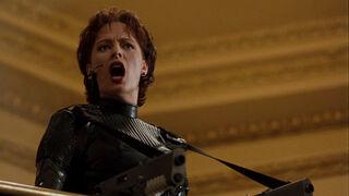 Jessica Priest in Spawn (played by Melinda Clarke) 93