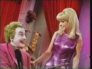 Cornelia and the Joker - her eyes light up when money's mentioned (Kathy Kersh with Cesar Romero)