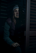 Ashley's smile while pranking Hannah