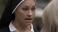 Sister Sophia White confronts Sara