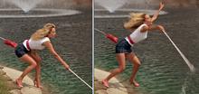 Ms Shepard Golf Pushed into Lake
