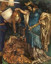 Nimue with the head of the Sorceress Annowre