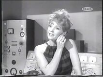 The evil receptionist... the fake Mrs Peel wIll have to be eliminated! (Yolande Turner)