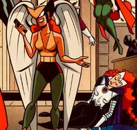 Blackfire Defeated And Knocked out By Hawkwoman