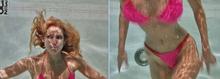 Ms Shepard Pink Bikini 06 Underwater