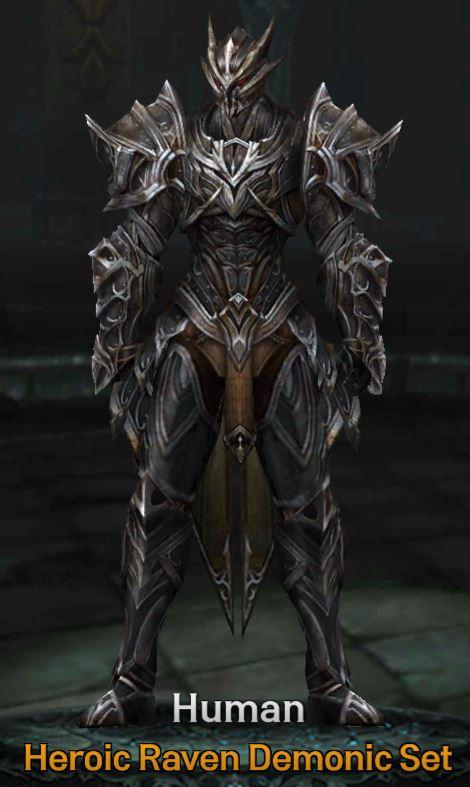raven demonic armor evilbane rise of ravens wikia fandom