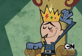 Skarr putting on crown