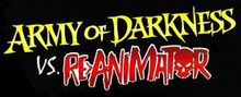 Army of Darkness vs. Re-Animator logo