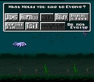 EVO evolution submenu fish English