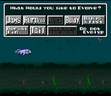 EVO evolution submenu fish English