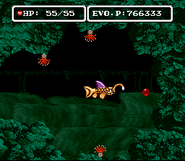 EVO Cave of Temptation first red crystal location Japanese