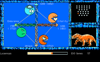 The Shinka Ron Evolution screen