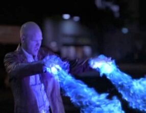 Powers Flint blue pyrokinesis