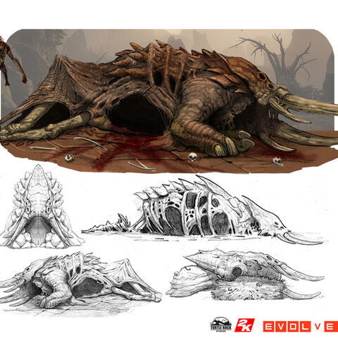 armadon's corpse concept art with Reaver