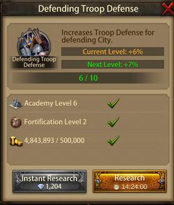 Defending troop Defense7