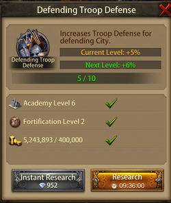 Defending troop Defense6