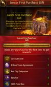 First purchse reward 1