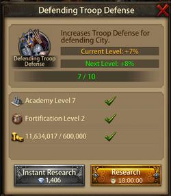 Defending troop Defense8