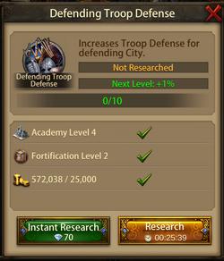 Defending troop defense1