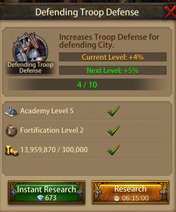 Defending troop Defense5