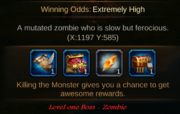 Zombie rewards