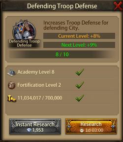 Defending troop Defense9