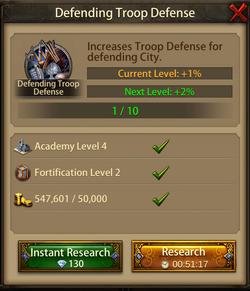 Defending troop defense2
