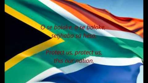 """South African National Anthem - """"Nkosi Sikelel' iAfrika"""" (XH ZU ST AF EN)"""