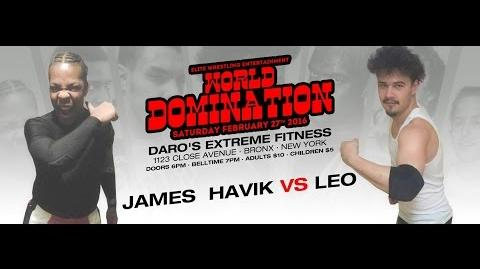 Elite Wrestling Entertainment - James F'n Havik Vs Leo
