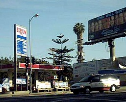 Exxon branded gas station in California