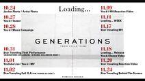 GENERATIONS - Loading Promotion Schedule