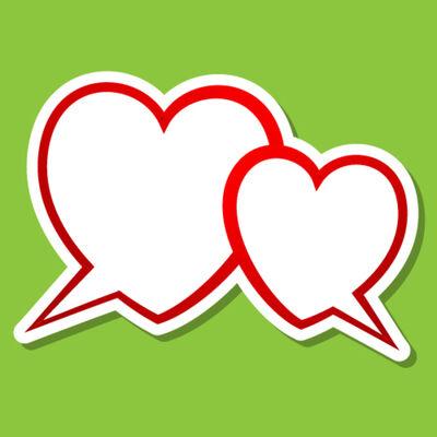 Bigstock Two hearts bubble 25738919