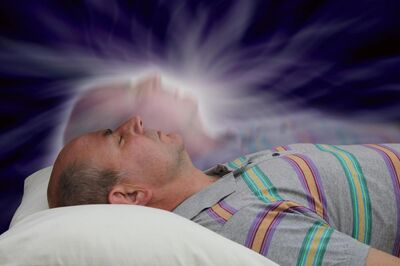 Man-and-astral-projection