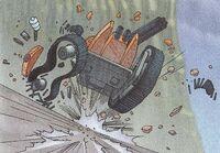 MDT wheel destroyed