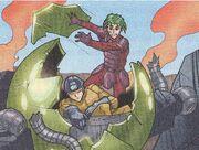 Takeshi saving trapped miner