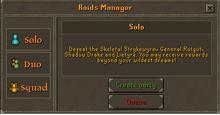 Raids Manager Interface 1