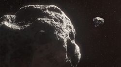Knight approaches asteroid CA-2216862