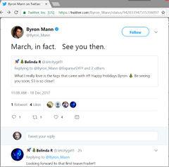 S3-ByronMann Tweets Release Timeframe