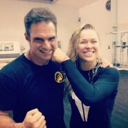 Expendables 3- J.J. Perry on-set with Ronda Rousey