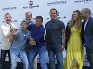 EX3- the gang jokes around at the film's premiere