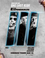 EX3- special poster with three castmembers