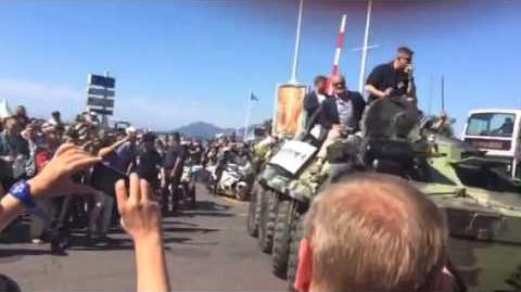 Cannes 2014 expendables 3 stunt